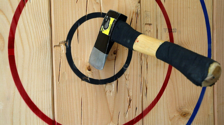 Axe throwing rings game